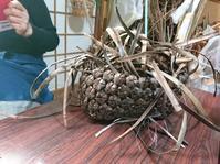 籠編み教室 3月 - 古布や麻の葉
