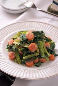 お弁当にも!小松菜とウインナーのマヨポン炒め - cafeごはん。ときどきおやつ