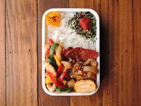 3/9(木)鶏と3色ピーマンの塩炒め弁当 - おひとりさまの食卓plus