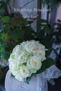 真っ白なブーケ - Le vase*  diary 横浜元町の花教室