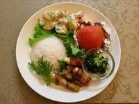 ネギの豚バラ巻きワンプレート - カフェ気分なパン教室  ローズのマリ