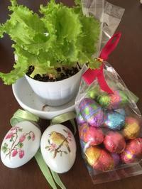 植物とイースターの飾り コペンハーゲンのエッグ - わたし的日常☆東京☆おもちゃで幼児教育
