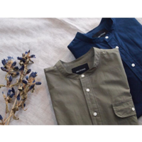 < DELICIOUS > Band Collar Pull-over Shirt - clothing & furniture 『Humming room』