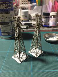 ペーパーキットの高圧線鉄塔 - inu's today