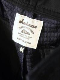 Jackman ジャージトラウザー - 【Tapir Diary】神戸のセレクトショップ『タピア』のブログです