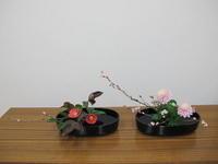 初春から春のイケバナ - リリ子の一坪ガーデン