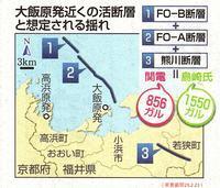 大飯3,4号機「適合」専門家「待った」地震「過小評価」残る疑念 /東京新聞 - 瀬戸の風