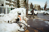 路肩の残雪と確定申告書のネット入力 - 照片画廊