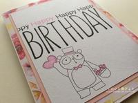 3月に贈る誕生日カードその1 - てのひら書びより