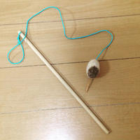 猫釣り竿 - 蝶と