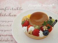 小さな春色プリンアラモード。・* - Heartful Sweets