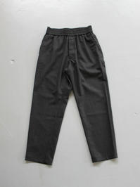 Honor gathering  super 100's wool classical stripe washer easy trousers - 『Bumpkins putting on airs』