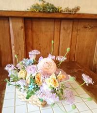 2017.3 Spring flower basket - オルネのフラワーレッスン
