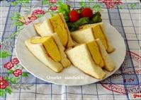 俺の生食パンde伝説のコロナ風☆玉子サンドイッチ - パンのちケーキ時々わんこ