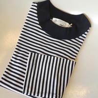 Re made in tokyo 細ボーダーモックネックロングTシャツ(ホワイトXブラック) - 下町の洋服店 krunchの日記