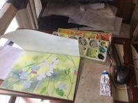 スイトピー制作中 - ポッと出っスけど杉山ひとみ/水彩画ブログ