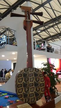 Music China 2016 で見つけた変なもの 4 (巨大民族楽器) - 二胡やるぞー