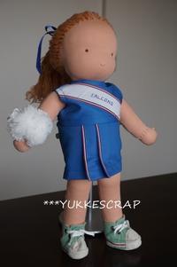 ウォルドルフ人形の着せ替え服 ~チアリーダー・ユニフォーム~  - YUKKESCRAP