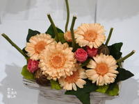 ガーベラの花かご - 『 花*生活の愉しみ 』