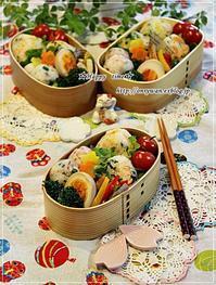 鮭と菜花・ゴマ沢庵のおむすび弁当とバゲット修行♪ - ☆Happy time☆