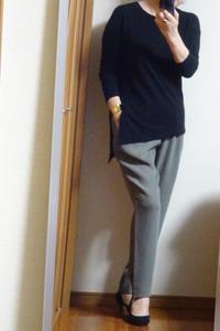 カーキと黒、そしてバーゲンで買ったジャンバー風コート - おしゃれ自己満足日記
