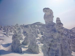 八甲田山樹氷のスノーハイク - 単身赴任の山歩き