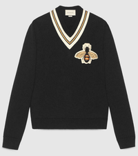 【GUCCI】Wool sweater with bee appliqué - てっち衣装部ログ