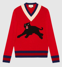 【GUCCI】Wool sweater with panther intarsia - てっち衣装部ログ