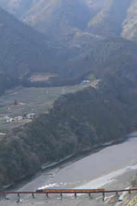 大井川第一橋梁 東岸最上段 - 2017年・大井川 - - ねこの撮った汽車
