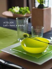 ATELIER Let's have a party ! 3月のテーブルコーディネート&おもてなし料理レッスンのご案内 - ATELIER Let's have a party ! (アトリエレッツハブアパーティー)         テーブルコーディネート&おもてなし料理教室