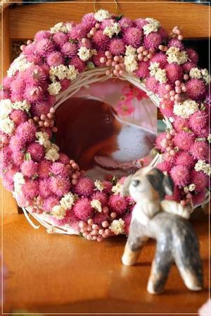 イチゴ色のリース - Reon&Roses+Lara