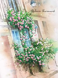バラ色を入れる - Atelier Charmant のボタニカル・水彩画ライフ