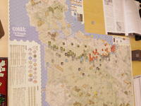 YSGA三月例会の様子その4〔(S&T誌251/CMJ誌106号)コブラ: ザ・ノルマンディ・キャンペーン (S&T#251/CMJ#106)COBRA:the Normandy Campaign〕 - YSGA(横浜シミュレーションゲーム協会) 例会報告
