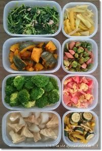 今週の常備菜☆緑多めの8種類と目でも美味しい!?離乳食 - 素敵な日々ログ+ la vie quotidienne +
