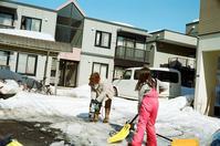 電動ドリルでの氷割りと不整地リハビリ歩行 - 照片画廊