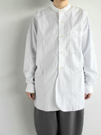 Sans limite STANDCOLLAR SHIRT / TWIN NEEDLE (LADIES SELECT) - 『Bumpkins putting on airs』