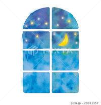 窓から見える風景のイラスト - ** アトリエ Chica **