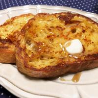 パン・ド・カンパーニュでフレンチトーストってなんかすごいフランス感。 - うさまっこブログ