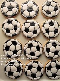 サッカーボールのアイシングクッキー * ありがとうの気持ち! - nanako*sweets-cafe♪