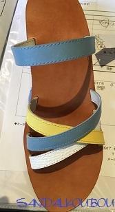 ビジュー色比べ - SANDAL工房 ~オーダーメイドレザーサンダル~