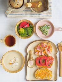 オープンサンドの朝ごはん - 陶器通販・益子焼 雑貨手作り陶器のサイトショップ 木のねのブログ