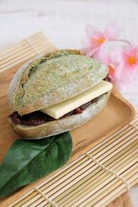 【レシピ】よもぎクッペのあんバターサンド - Takacoco Kitchen