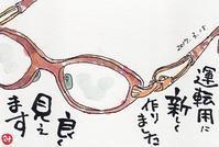 眼鏡 - きゅうママの絵手紙の小部屋