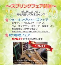 スプリングフェア開催!! - フスウントシューカルチャー浅草本店からのお知らせ