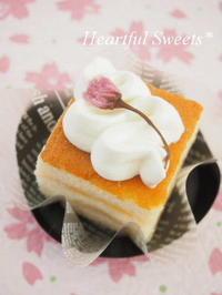 ふんわり香る日本酒ケーキ。・* - Heartful Sweets