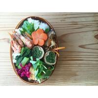 小海老と搾菜のガーリック炒めBENTO - Feeling Cuisine.com