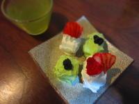 小さいケーキ 抹茶といちご - 恵茶房 meg tea labo