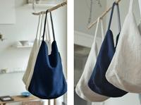 Linen - reversible  one  shoulder  bag - womb_a_closet