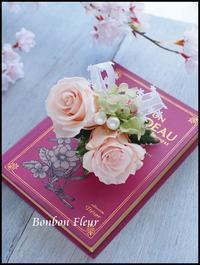 プリザーブドフラワーコサージュ オールドローズ - Bonbon Fleur ~ Jours heureux  コサージュ&和装髪飾りボンボン・フルール