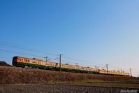 築堤を往く湘南色。 - 山陽路を往く列車たち